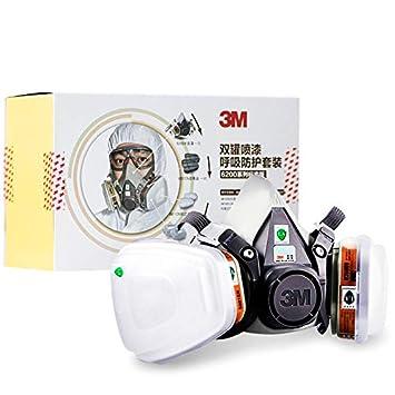 JIFENG Mascara de Gas, Pintura, máscara Protectora, Polvo Industrial respirador, Gases químicos