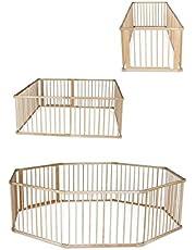 dibea DP0058, houten looprooster met deur, ideaal voor baby en peuters