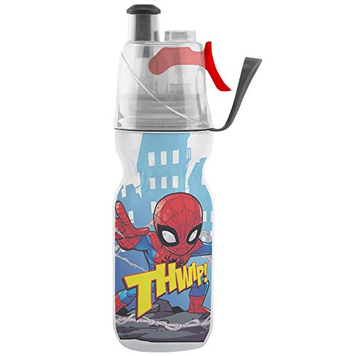 O2COOL Licensed ArcticSqueeze Insulated Mist 'N Sip Squeeze Bottle 12 oz., Spiderman