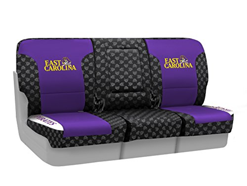 Coverking Custom Fit Front 40/20/40 NCAA Licensed Seat Cover for Select Nissan Titan Models - Neosupreme (East Carolina University) by Coverking