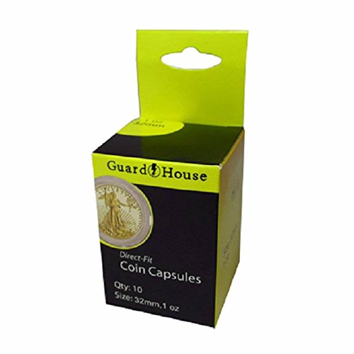 Direct Fit Coin Capsules, 1 oz Gold Eagle by Guardhouse, used for sale  Delivered anywhere in USA