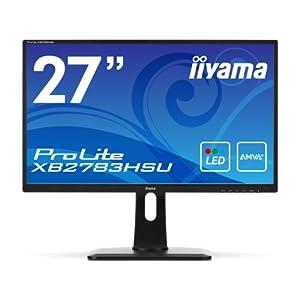 iiyama Full HD対応 AMVA+パネル搭載 27型ワイド液晶ディスプレイ XB2783HSU-B1