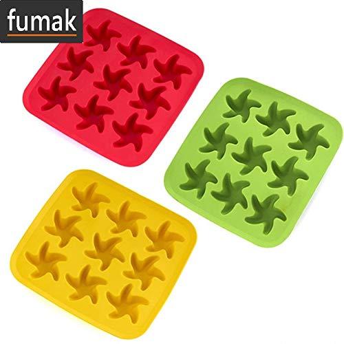 Cubitera de hielo con diseño de frutas y estrellas, forma de ...