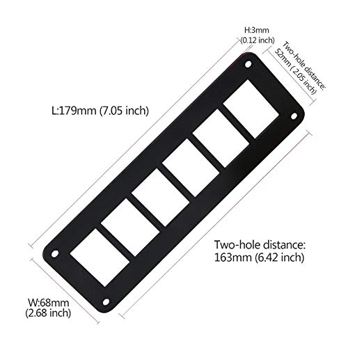 Car Switch Parts 2//3//4//6 Way Aluminum Rocker Switch Panel Housing Holder for RVs Boat Trailers Auto Parts Transport-Accessories