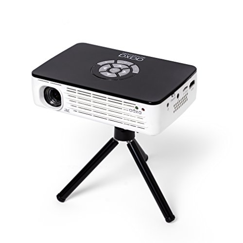 AAXA Technologies P300 Pico Projector with Rechargeable Battery - Native HD resolution with 500 LED Lumens, For Business, Home Theater, Travel and more للبيع