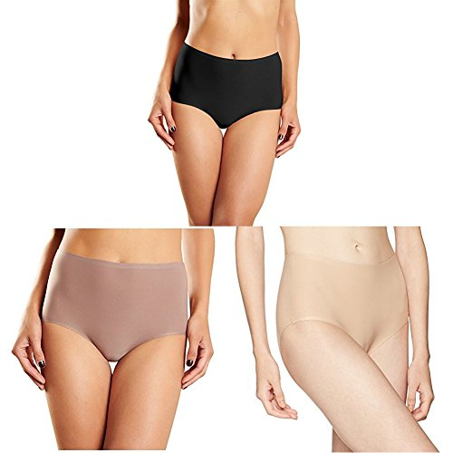 Chantelle Women's Soft Stretch High Rise Brief Ultra Nude/Black/Hazelnut, One Size
