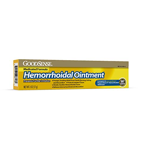 - GoodSense Hemorrhoidal Ointment, Phenylephrine HCI, Petrolatum, Mineral Oil, Relief from Burning, Itching and Discomfort of Hemorrhoids 2 Ounce