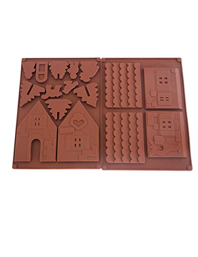 Non-Stick Christmas Gingerbread House Silicone Cake Molds for DIY Tools (Gingerbread Mold House)