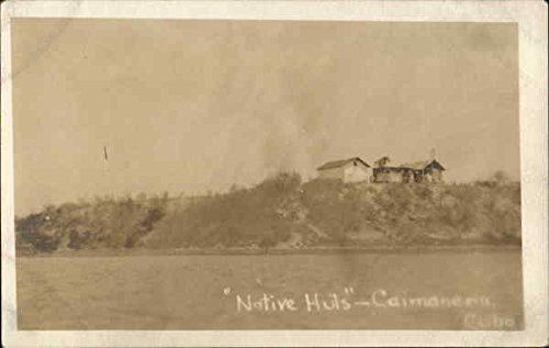 Native Huts Caimanera, Cuba Original Vintage Postcard (Native Postcard Huts)