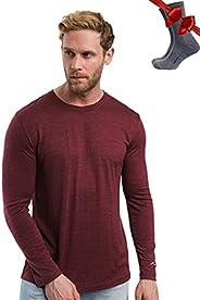 Merino.tech Merino Wool Base Layer - Mens 100% Merino Wool Long Sleeve Thermal Shirts Lightweight, Midweight,