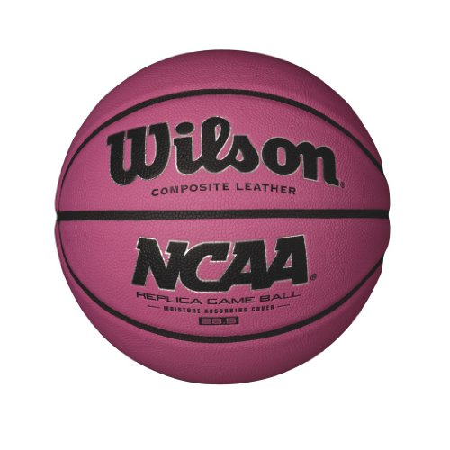 Wilson NCAA Pink Replica Game Basketball, Intermediate - 28.5