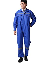 XinAndy Blue Reflective Work Coverall