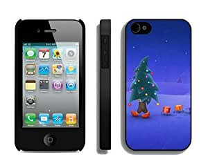 2014 Latest Christmas tree Black iPhone 4 4S Case 1