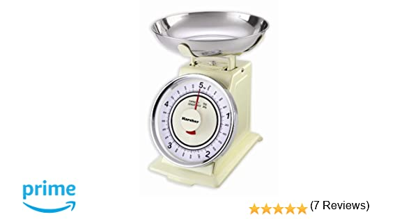Karcher WAK 811 - Báscula de cocina mecánica retro, color magnolia: Amazon.es: Hogar
