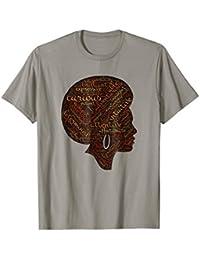 Afro Word Art Natural Hair T-Shirt For Black Women Melanin
