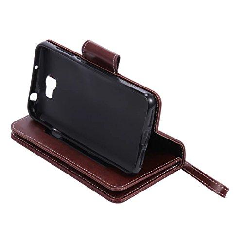 Funda Libro Huawei Y5 II PU Leather Cuero Suave Case -Sunroyal ® [Anti-Scratch] Ultra Slim Flip Carcasa Cover, Cierre Magnético, Función de Soporte,Billetera con Tapa para Tarjetas Caja del Teléfono p A-08