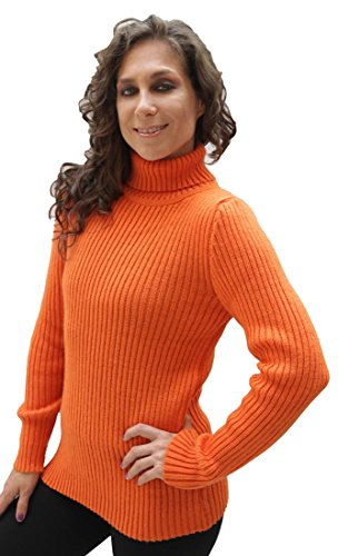 Women's Soft Alpaca Wool Knitted Turtleneck Ribbed Sweater (XLarge, (Alpaca Wool Sweater)