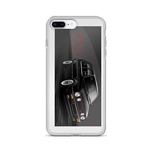 iPhone 7 Plus/iPhone 8 Plus Case Clear Anti-Scratch MK2 Golf GTI Illustrated, wrap, mk2 Golf Cars Cover Phone Cases for iPhone 7 Plus iPhone 8 Plus ()