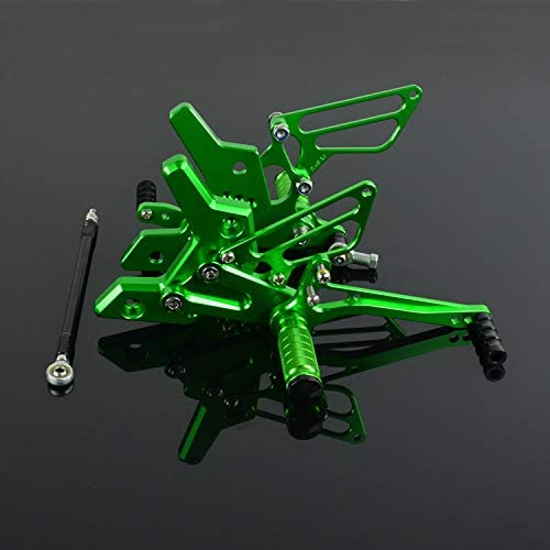 JFG RACING moto Rearsets CNC regolabile posteriore pedane poggiapiedi per Kawasaki Z750/2004/2005/2006