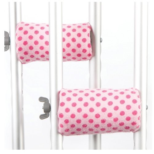 Crutch Caps CHANPPOLK Pink Polka Dot Child Crutch Handle Pads by Crutch Caps