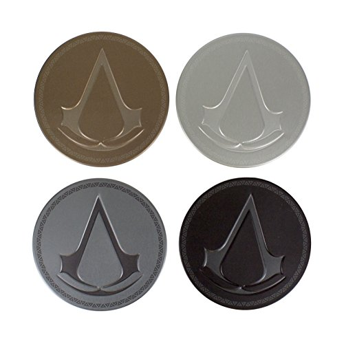Metal Video Game (Assassins Creed Metal Drink Coasters)