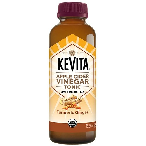 KEVITA Turmeric Ginger Tonic Cleansing Probiotic, 15.2 Ounce (Pack of 12) by KeVita