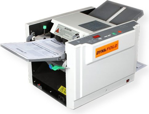 Dynafold DE-210 Pressure Sealer Folder, Designed for the Small to Medium Size Business, Manual Adjusting Trays, 2500 Sheets per Hour, 150-sheet Feeder, Works with Letter, and Legal Paper Sizes by Dynafold