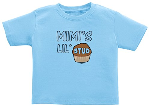 Funny Baby Clothes New Grandma Gift Mimi's Lil Stud Muffin Toddler T-Shirt 3T Light Blue