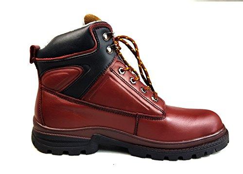 Starex | Wasserdicht Sicherheit Stiefel Hiker | Stahlkappe |fg Leder A905Tief Rot
