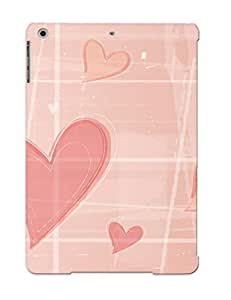 Crazinesswith High Quality Shock Absorbing Case For Ipad Air-hearts In A Grid
