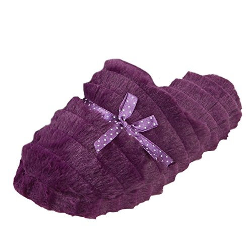 Foam Polka Kunstpelz Damen Dot Memory DREAMING Pantoffel FOREVER New Damen Plum Pantoffeln qIOZXRO