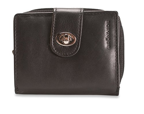Brunhide Ladies Leather Purse - RFID Blocking - Efficient and Practical # 220-300 [Black] Black