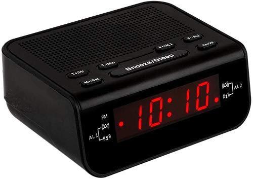 Little Digital FM Alarm Clock Radio with Dual Alarm, Snooze, Sleep Timer and Battery Backup