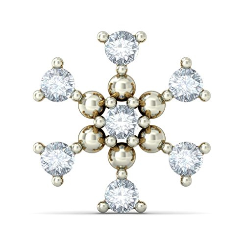 Or jaune 14 K 0.25 CT TW White-diamond (IJ | SI) Boucles d'oreille à tige