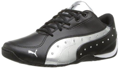 PUMA Drift Cat 5 Glamm D JR Sneaker (Little Kid/Big Kid),Black Silver/Calypso Coral,1 M US Little Kid ()