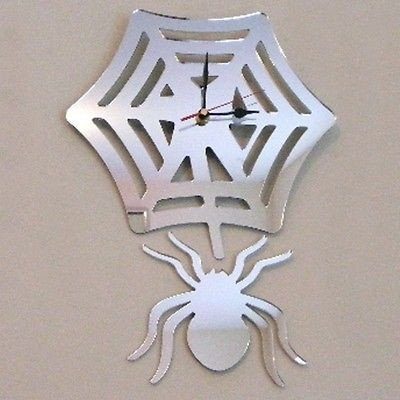 Spider Web Clock (Spider and Web Mirrored Clock - 40 x 25)