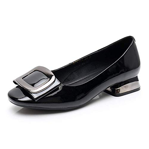 mouth shoes FLYRCX Shallow wedding shoes single casual work shoes fashion comfortable shoes A leather ladies 55rPqg