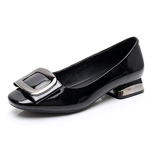 Baja Las la Zapatos Boca FLYRCX Trabajo de Cuero Zapatos Casuales Zapatos de cómodos Moda A Boda Zapatos de señoras de de de aAxzvawq