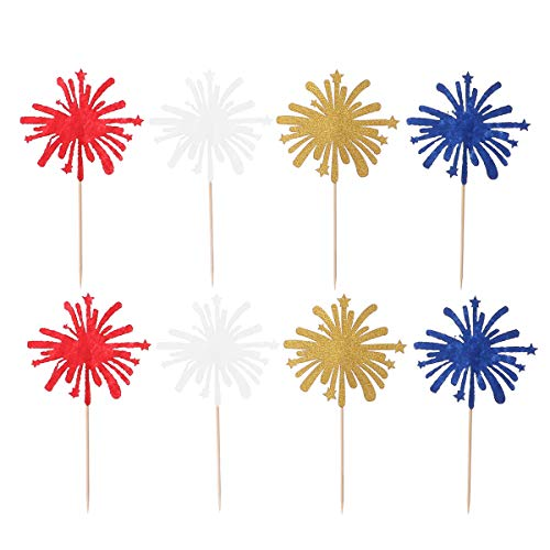 - Amosfun 8 Pcs Cake Toppers Exquisite Fireworks Shape Cake Fruit Picks Dessert Table Decorative Supplies Party Decoration