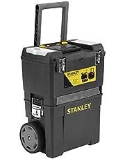 Stanley werkplaats op wielen (47,3 x 30,2 x 62,7 cm, twee apart bruikbare gereedschapskisten, robuuste kunststof, twee eenheden, metalen sluitingen, organizer) 1-93-968