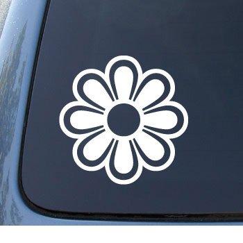 Flower 2 daisy car truck notebook vinyl decal sticker