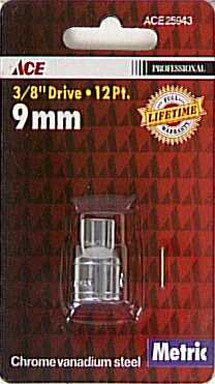 Ace 3/8 Drive Metric 12 Point Socket (25943)