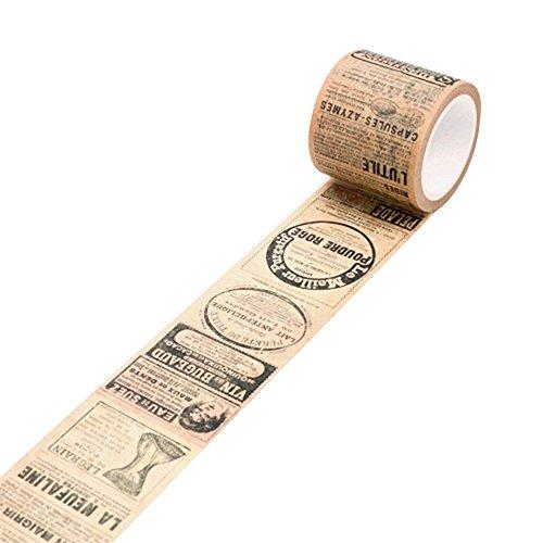 (Trenton Vintage Washi Tape Decorative Paper Masking Tape DIY Adhesive Scrapbook Sticker)