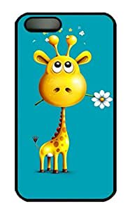 iPhone 4 4S Case, iCustomonline Cute Giraffe Protective Hard Back Shell Case Cover for iPhone 4 4S Black