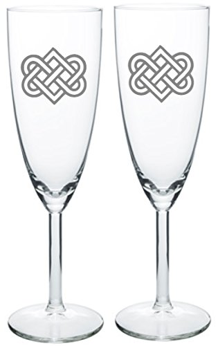 IE Laserware Celtic Heart Love Knot Champagne Wedding Toast Flute (Best Irish Wedding Toasts)