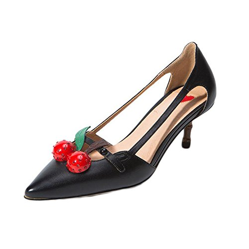 NEW Shoe Pointed Toe Party Wedding Luxury Red Cherry High Heels Women (Party City Greenville Nc)
