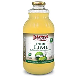 Lakewood pure lime, fresh pressed, 32 fl oz (pack of 6) 1 two tbsps is the juice of one whole organic lime no preservatives | no added sulfites no gmo's; fresh pressed; not from concentrate