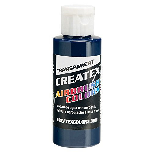 Createx Airbrush Paint, Transparent Deep Blue, 4 oz (5108-04) ()