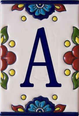 Ceramic Letter Tiles - Fine Crafts Imports Mission Tile Letter A