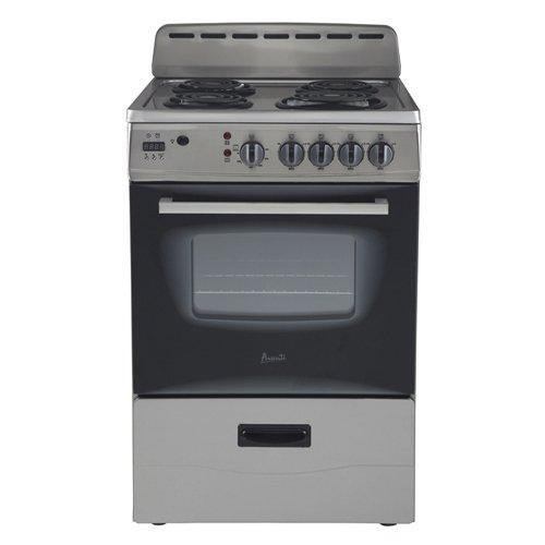 "Avanti ER24P3SG 24"" Electric Range Storage, Stainless Steel,"